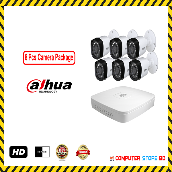 Dahua (6 Pcs CC Camera Package )