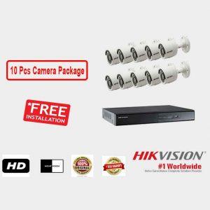 Hikvision (10 Pcs CC Camera Package )
