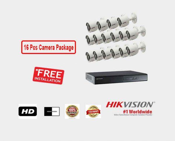 Hikvision (16 Pcs CC Camera Package )