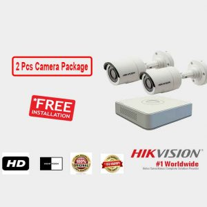 Hikvision 2 Pieces CCTV Camera Package