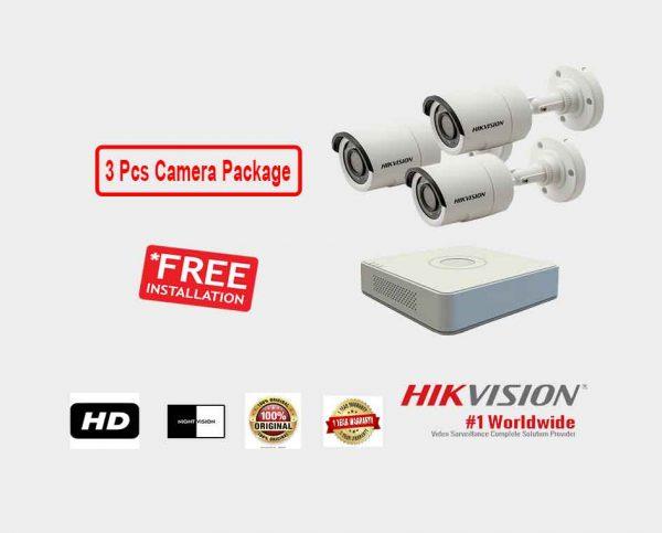 Hikvision (3 Pcs CC Camera Package )