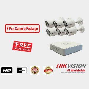 Hikvision (6 Pcs CC Camera Package )