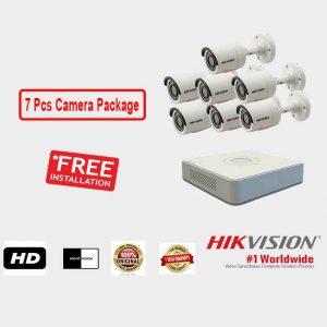 Hikvision (7 Pcs CC Camera Package )